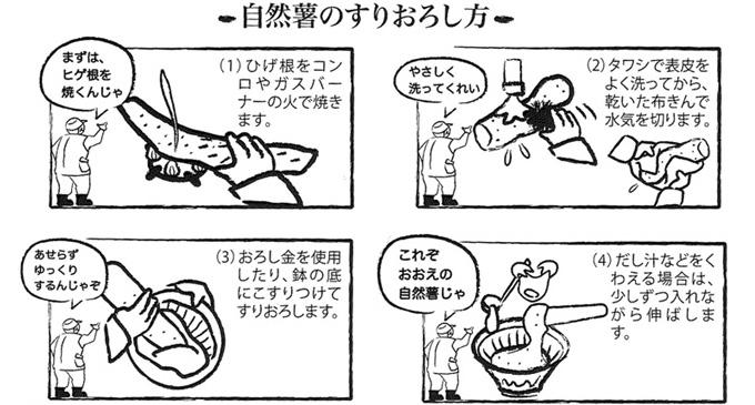 自然薯のすりおろし方