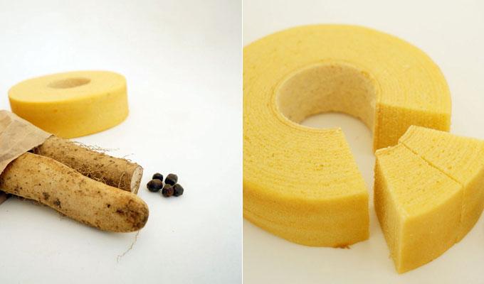 自然薯バウムクーヘンの画像